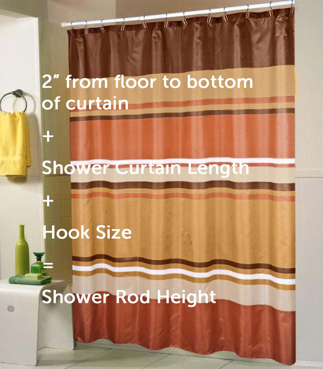 With A Standard Shower Curtain Height At 70 Or 72 Inches, Adding At Least  Three Inches Will Give You A Good Indication About The Ideal Shower Curtain  Rod ...