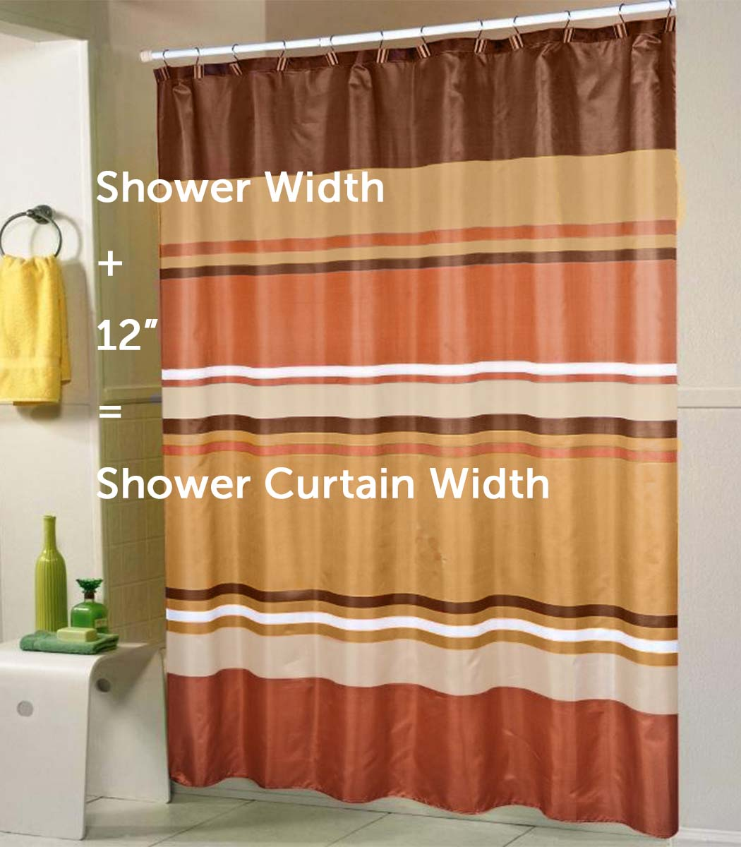a standard shower curtain size guide linen store. Black Bedroom Furniture Sets. Home Design Ideas